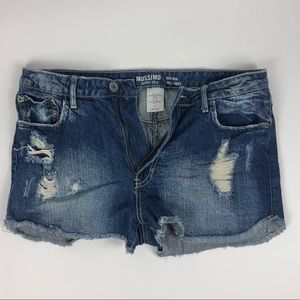 Mossimo Blue Jean Distressed Shorts 🩳